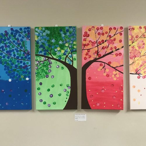 Ability connection member adaptive art therapy